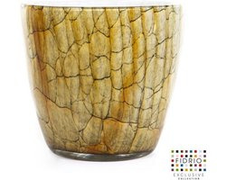 Design pot oval - Fidrio DESSERT - glas, mondgeblazen - diameter 18 cm hoogte 25 cm