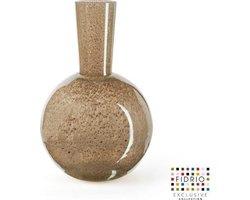 Design vaas Globe - Fidrio BRONZE - glas, mondgeblazen bloemenvaas - hoogte 40 cm Ø 23