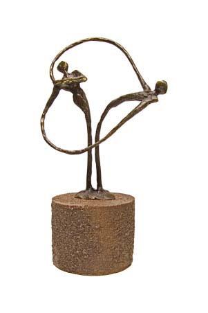 bronzen beeldje - sculptuur - urn - heart to heart