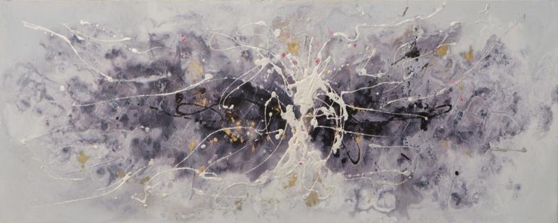150 x 60 cm - Olieverfschilderij - Abstract - handgeschilderd