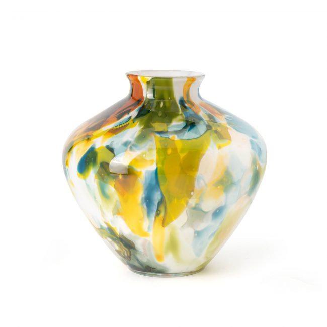 Design vaas Fidrio - glas kunst sculptuur - Belly  - Colori- mondgeblazen - 20 cm hoog --