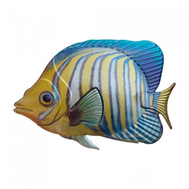 Wanddecoratie 3D metaal koninklijke engel vis