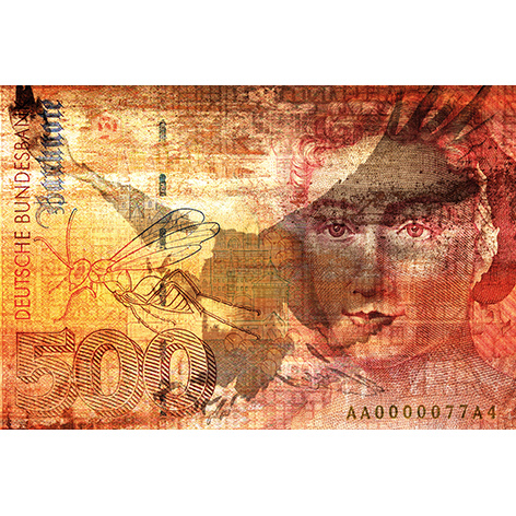 180 x 120 - Schilderij Dibond - Foto op aluminium - Biljet 500 Duitse mark - Mondiart