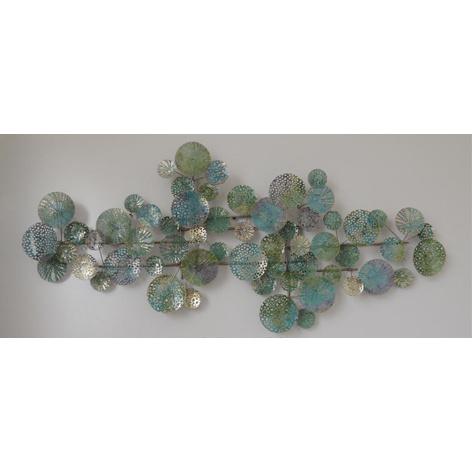 Metalen wanddecoratie - kleurrijke rondjes