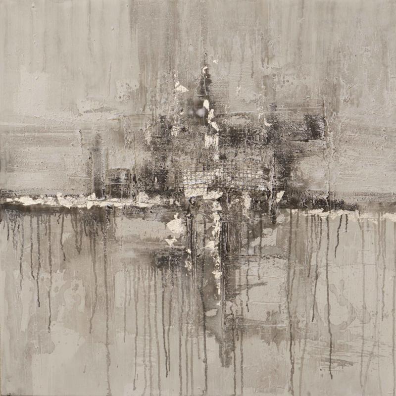 Olieverfschilderij - Abstract Bruin