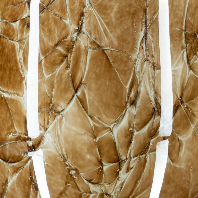 Design vaas Fidrio - glazen sculptuur - Marmi - Alore XL - glas - mondgeblazen - 33 cm hoog