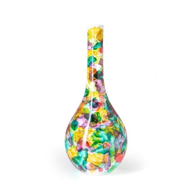 Vaas Fidrio - glazen sculptuur - Bloemen - mondgeblazen