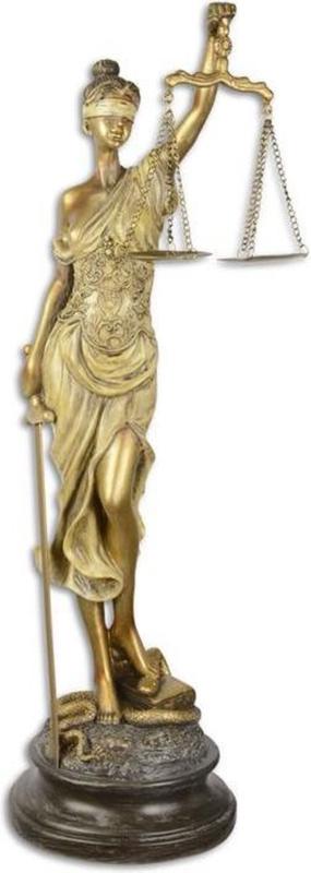 Vrouwe Justitia - Resin beeld - Godin rechterlijke macht - 52.5 cm hoog