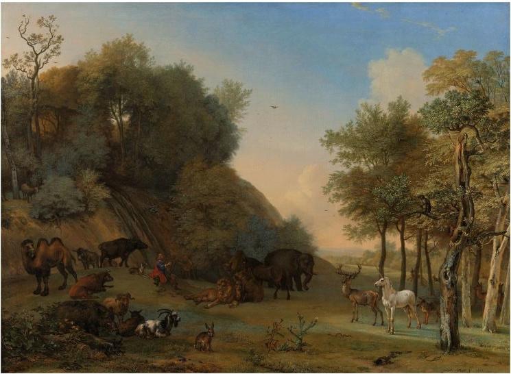 120 x 80 cm - Plexiglas klassiek Schilderij - Orpheus en de dieren - klassieke kunst afbeelding op acryl - oude meesters!