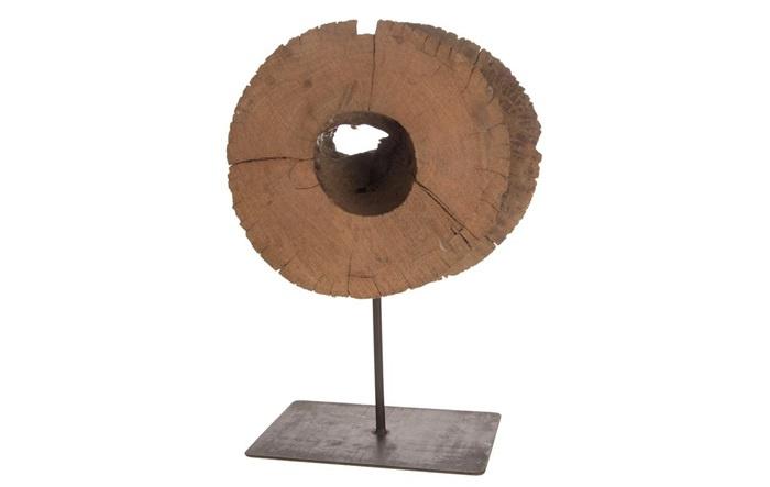 Houten kunst - Beeld - sculptuur - houten rijst stamper