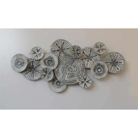 Metalen wanddecoratie - tribal cirkels