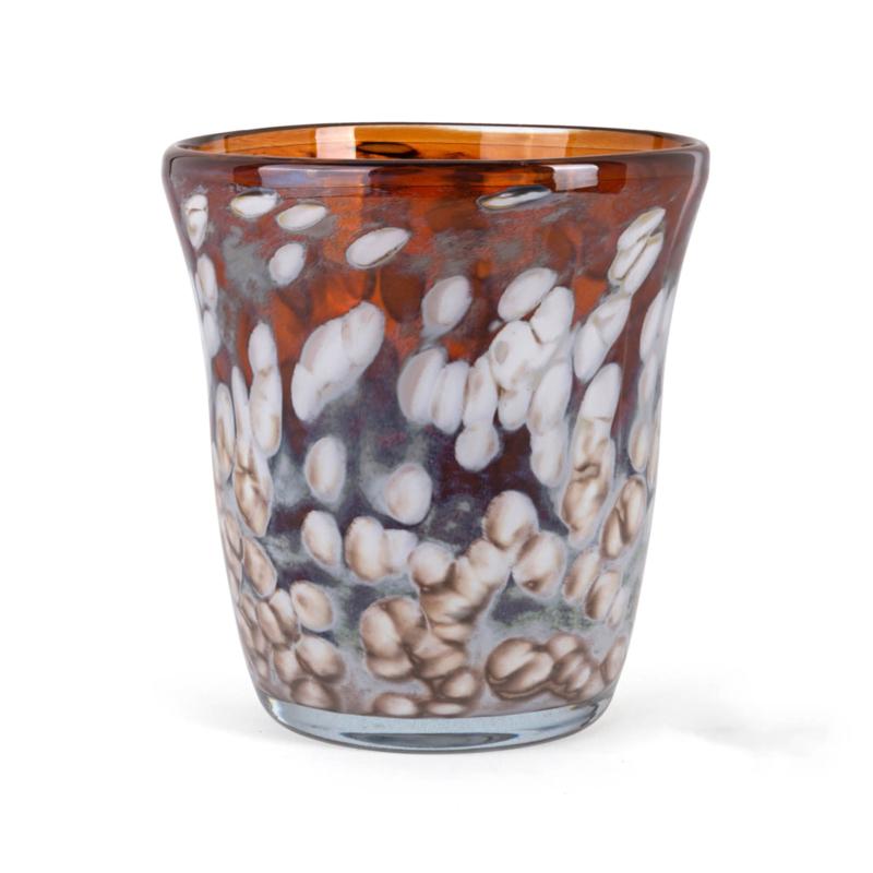 Design vaas Fidrio - glazen sculptuur - hazel -  Sidney - glas - mondgeblazen - 25 cm hoog --