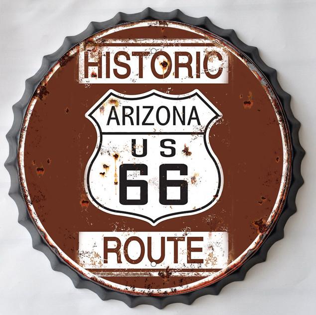Wanddecoratie - Route 66