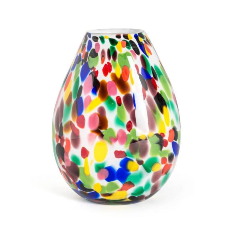 Design vaas Fidrio - Organic Candy - gekleurd glas - mondgeblazen - 30 cm hoog