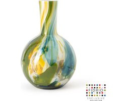 Design vaas Globe medium - Fidrio COLORI - glas, mondgeblazen - hoogte 25 cm