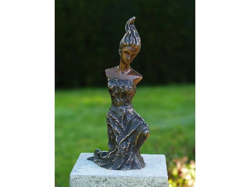 Tuinbeeld brons - beeld Modern Vrouw - Bronzartes