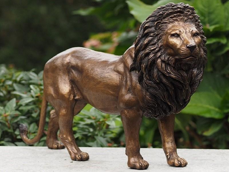 Tuinbeeld brons - bronzen beeld leeuw - Bronzartes