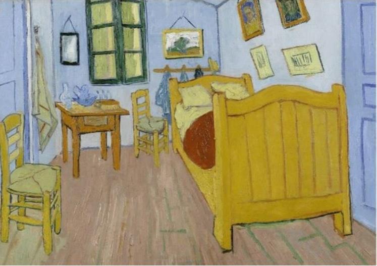 Schilderij Dibond - De slaapkamer Vincent van Gogh