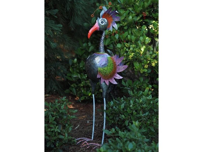 Beeld metaal - Tuinbeeld - beeld Bijzondere Vogel - 120 cm hoog