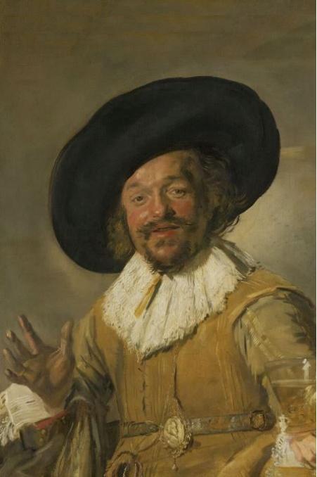 Foto op hout - De vrolijke drinker - Frans Hals