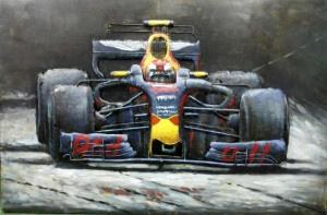 3D Schilderij Metaal - Formule 1 - 80x60 cm
