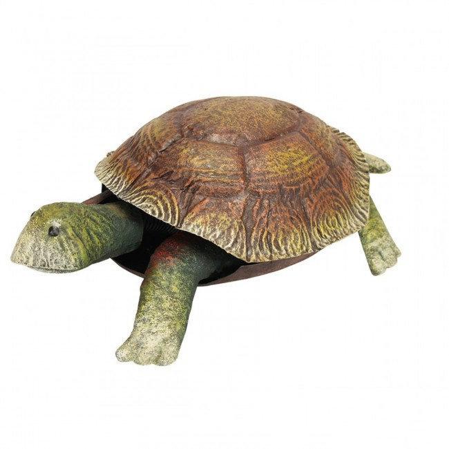 Beeld metaal - Tuinbeeld - beeld schildpad - 16 cm hoog