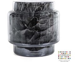 Design vaas Puccini - Fidrio NERO - glas, mondgeblazen bloemenvaas - diameter 11,5 cm hoogte 15 cm