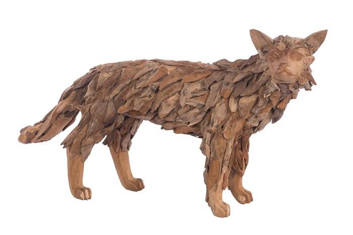 Houten kunst - Beeld - sculptuur - houten vos