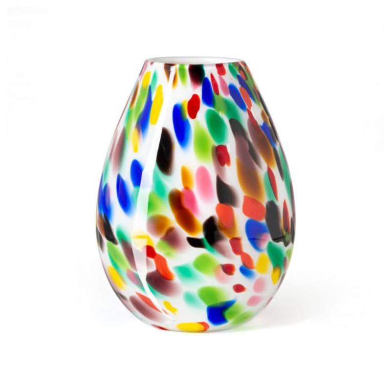 Design vaas Fidrio - Organic Candy - gekleurd glas - mondgeblazen - 20 cm hoog --