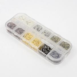 box met 1320 enkele ringetjes 5mm kleurenmix