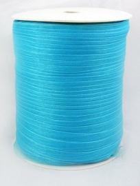 ruim 450 meter organza lint 6mm blauw