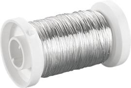 KN6465714- 150 meter zilverdraad van 0.25mm dik