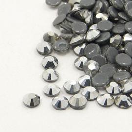 1440 stuks hotfix strass steentjes SS16 4mm hematite - AA-kwaliteit