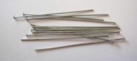 CE430700/4502- 100 stuks nietstiften 45mm zilverkleur
