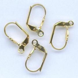 CE430800/4132- 4 stuks oorhaakjes lelie goudkleur