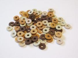 460503/2807- ca. 100 stuks katsuki kralen spacers 6mm bruin mix