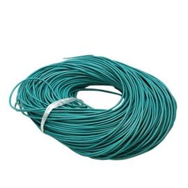 2 meter echt leren veter van 2mm dik turquoise
