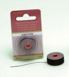 CE430205/5001- 37 meter Silky draad van 0.2mm dik zwart