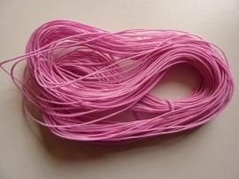 27 meter elastisch koord van 1mm dik roze
