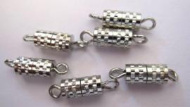 TH118081211- 6 stuks draaisluiting van 8mm zilverkleur