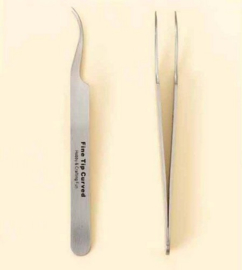 CE860512/8003- Pincet stainless steel fijne punt gebogen 12 cm