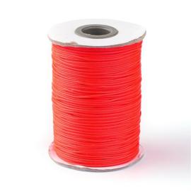 ruim 70 meter hotwax waxkoord 1mm neon rood/oranje