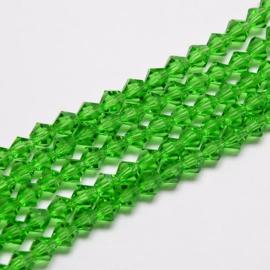 C121.B- 118 stuks AA-kwaliteit imitatie Swarovski crystal kralen 4mm spring green