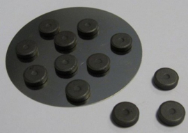 CE12250/5001- 12 stuks magneten van 12mm en 2mm dik
