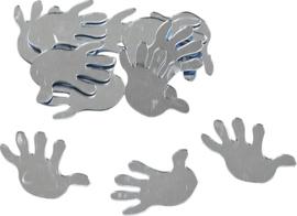 KN8002559- 12 stuks deco spiegeltjes hand 3cm