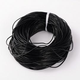 100 meter echt leren veter van 2mm dik zwart
