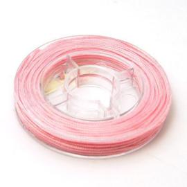 8 meter nylonkoord knoopkoord van 0.8mm dik roze