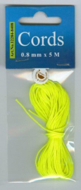 CE442000/8408- 5 meter nylon knoopkoord 0.8mm dik - fel geel