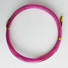 10 meter aluminiumdraad 0.8mm roze