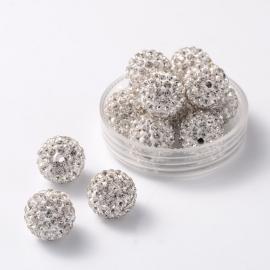 C136- 5 stuks A-kwaliteit strass ballen van 12mm crystal